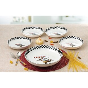 5 Piece Chef Design Porcelain Pasta Bowl Set  sc 1 st  Wayfair & Pasta Bowls You\u0027ll Love | Wayfair