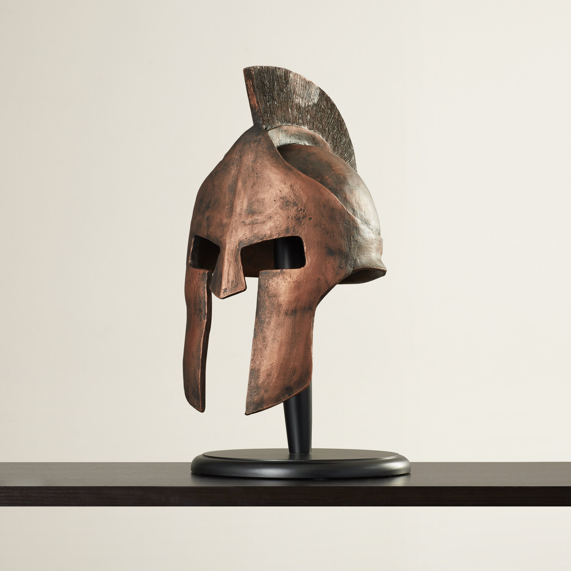 World Menagerie Greek Spartan Helmet Sculpture Reviews Wayfair