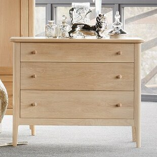 Hudson 3 Drawer Chest Of Drawers By August Grove