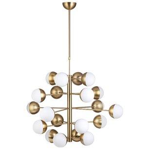 Stilnovo Baggensgatan 20-Light Sputnik Chandelier