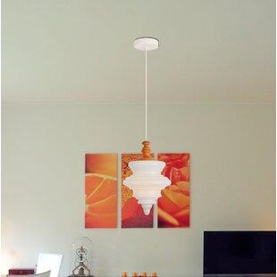 Amiya 1-Light Schoolhouse Pendant by Mistana