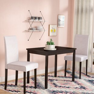 Darvell 3 Piece Solid Wood Dining Set by Latitude Run Savings
