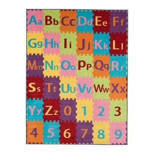 Savings Ailish Alphabet Letters and Numbers Area Rug ByZoomie Kids