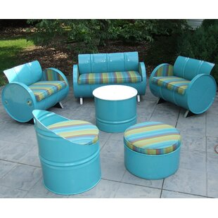 Astoria Lagoon 6 Piece Sunbrella Sofa Set with Cushions by Drum Works Furniture