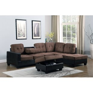 Hoehne Park Place Reversible Sectional with Ottoman