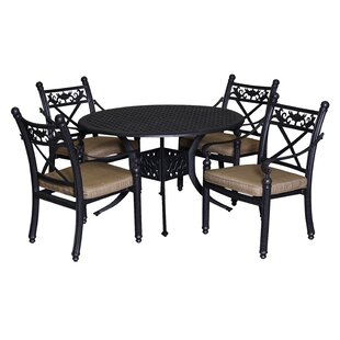California Outdoor Designs Baldwin 5 Piece Dining Set with Cushions