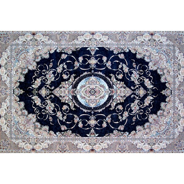 Astoria Grand Cameron Hand Look Persian Wool Blue Light Pink Area Rug Wayfair