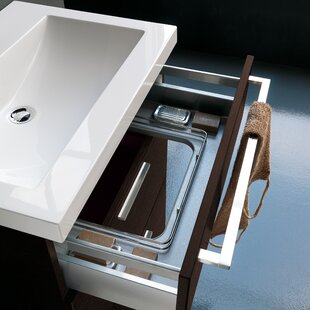 Acquaviva Archeda Stone Rectangular Drop-In Bathroom Sink with Overflow