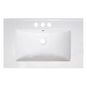 American Imaginations Vee Ceramic 30 Single Bathroom Vanity Top Wayfair