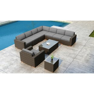 Glen Ellyn 10 Piece Sectional Set with Sunbrella Cushion by Everly Quinn
