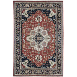 Buying One-of-a-Kind Heriz Hand-Knotted 12'1 x 17'10 Wool Red/Black Area Rug ByBokara Rug Co., Inc.