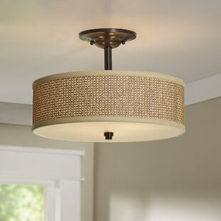 Crane 3-Light Semi Flush Mount by Beachcrest Home