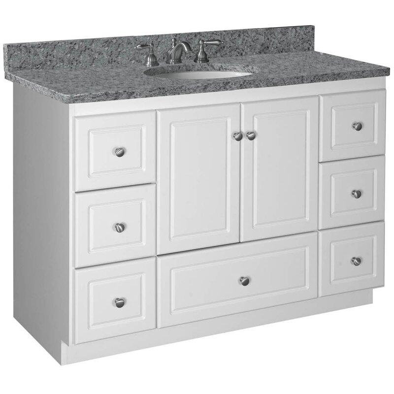 """Vanity Base Bathroom strasser woodenworks simplicity 48"""" bathroom vanity base & reviews"""