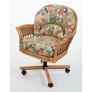 Moonsu Rattan Frame Upholstered Dining Chair