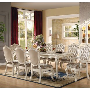 Wensley 9 Piece Extendable Solid Wood Dining Set