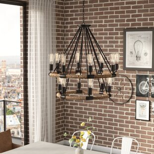 Trent Austin Design Inyo 14-Light Wagon Wheel Chandelier