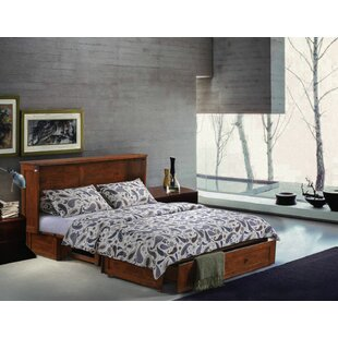 Planas Queen Storage Murphy Bed with Mattress