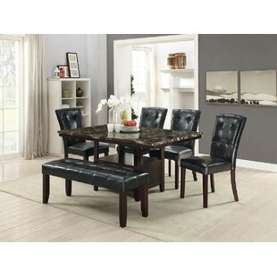Upshaw 6 Piece Dining Set