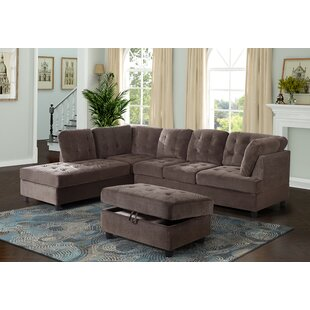 Speaks Sectional with Ottoman
