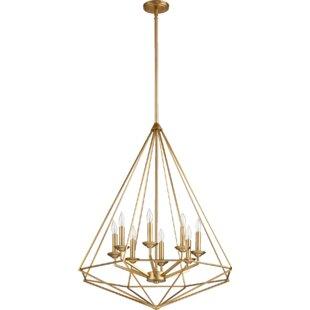 Everly Quinn Calne 8-Light Geometric Chandelier