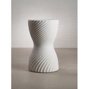 Spring Twisted Ribbed Earthenware Garden Stool by Ivy Bronx