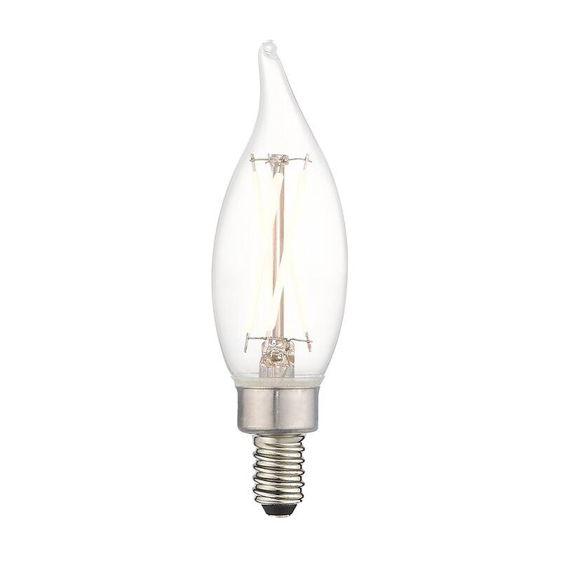 Jtechs Inc 4 Watt 40 Watt Equivalent Ca10 Led Dimmable Light Bulb Warm White 2700k E12 Candelabra Base Wayfair