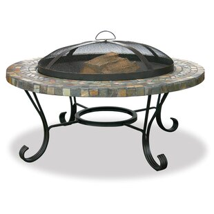 Mellie Steel Wood Burning Fire Pit Table by Uniflame Corporation Best #1