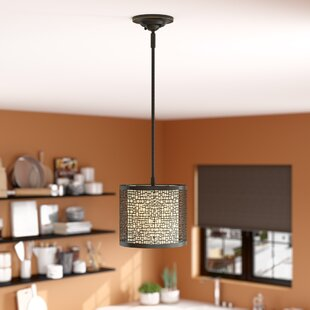 Evart 1-Light Drum Pendant by Latitude Run
