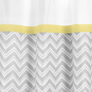 Zig Zag Cotton Single Shower Curtain by Sweet Jojo Designs Best Choices