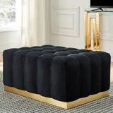 Super Gold Tufted Ottoman Wayfair Customarchery Wood Chair Design Ideas Customarcherynet