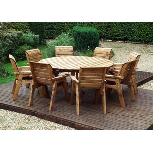 Farris 8 Seater Dining Set With Cushions By Union Rustic
