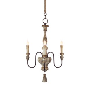 Aidan Gray Chartres 3-Light Candle Style Chandelier