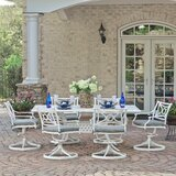 Flagg Cast Aluminum Outdoor 7 Piece Dining Set with Cushions
