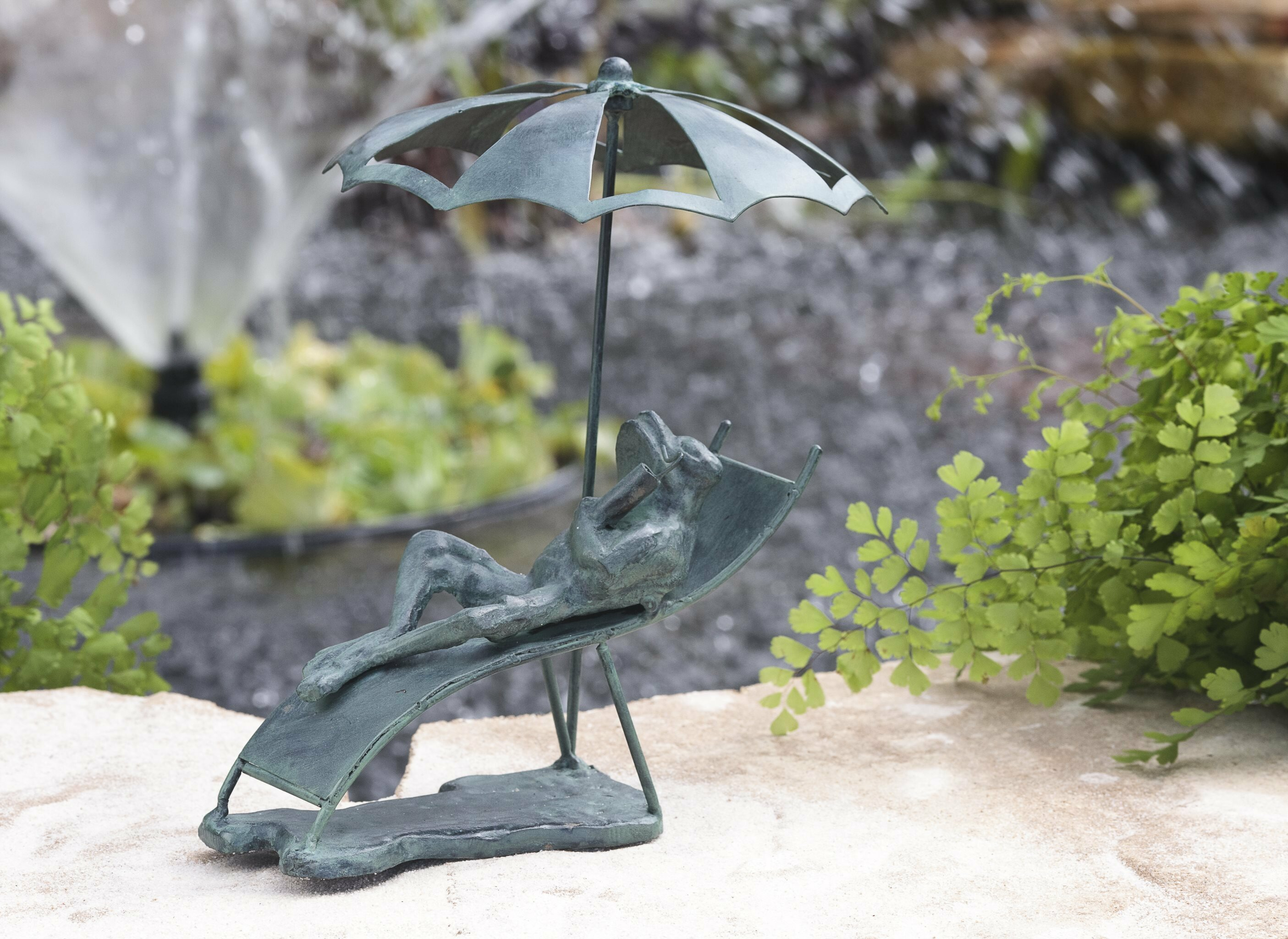 Wind U0026 Weather Beach Chair Frog Cast Iron Statue U0026 Reviews | Wayfair