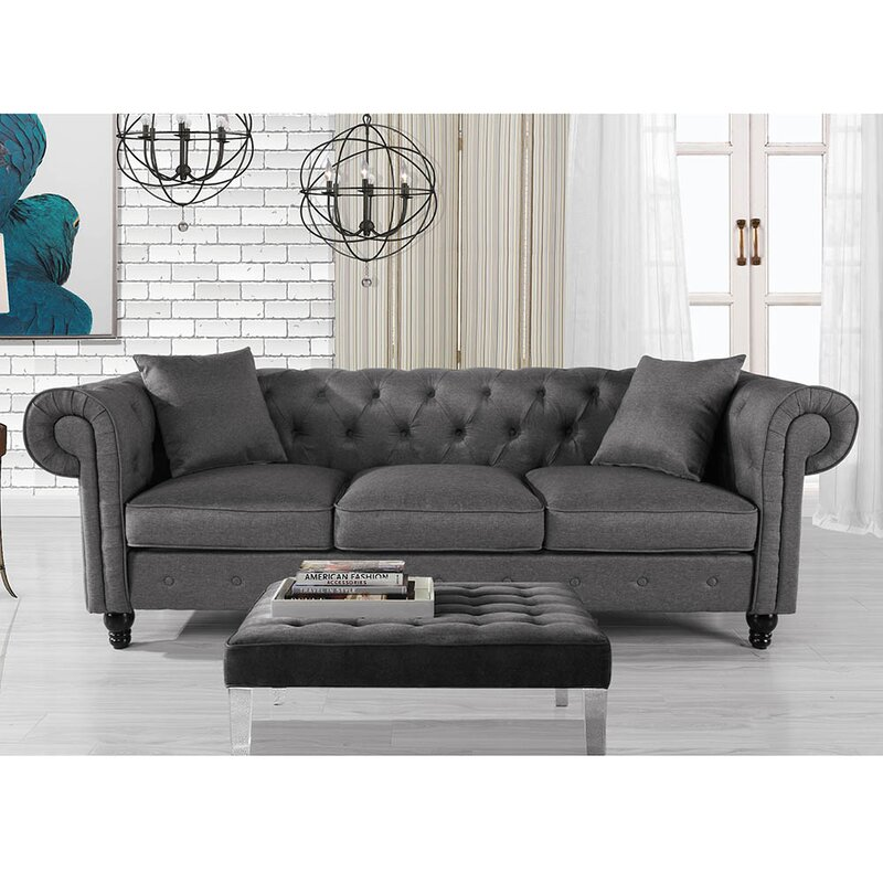 Charlton Home Logue Chesterfield 86 Rolled Arms Sofa Reviews Wayfair