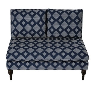 Stutes Lattice Armless Loveseat