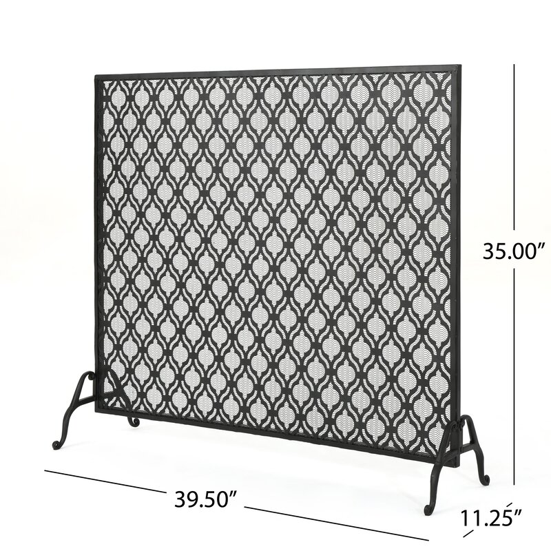 black iron fireplace screen. Cayenne Single Panel Iron Fireplace Screen Home Loft Concepts