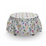 Octopus Maritime Cartoon 2 Piece Box Cushion Ottoman Slipcover Set by East Urban Home