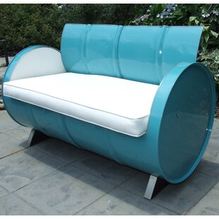 Drum Works Furniture Loveseat with Cushions