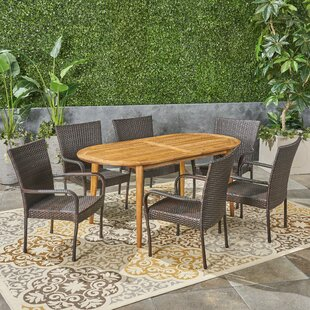 Dills Outdoor 7 Piece Dining Set