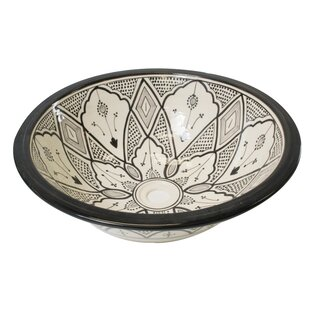 Casablanca Market Ceramic Circular Undermount Bathroom Sink