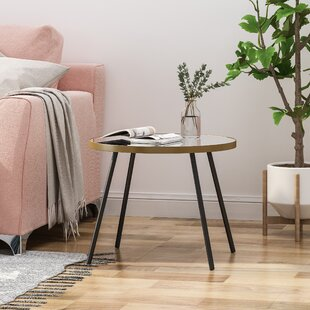 Angelita Minimalist Circular End Table by Brayden Studio