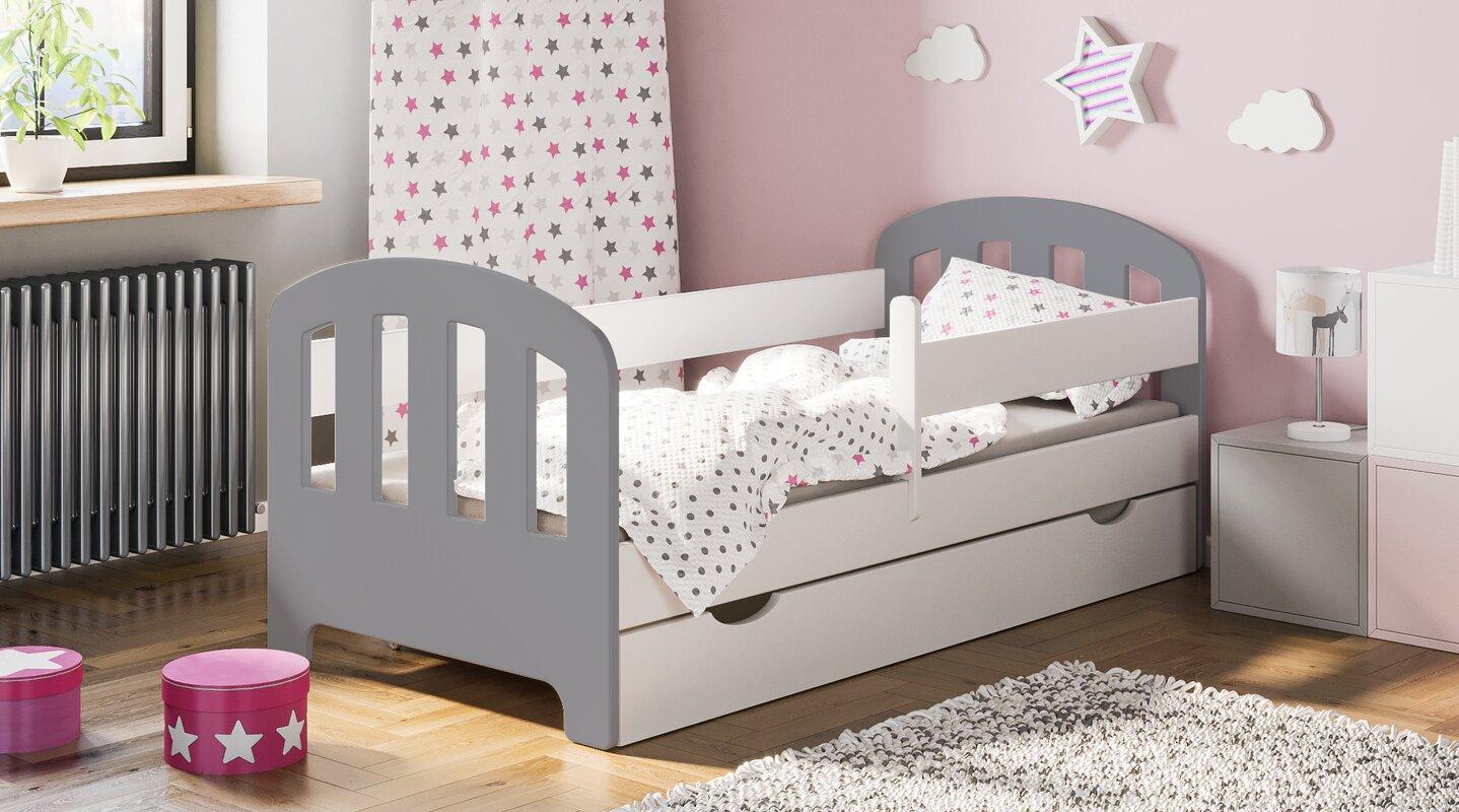 Kinderbett Sofia Mit Matratze Schublade Und Sternchen 80 X 160 Cm