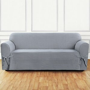 Sure Fit Box Cushion Sofa Slipcover Image