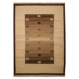 Bucyrus Handmade Kilim Wool Brown Rug by Longweave
