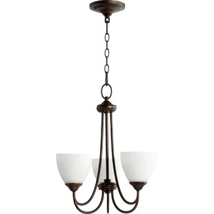 Hewlett 3-Light Shaded Chandelier in Oi LED Shaded Chandelier by Three Posts