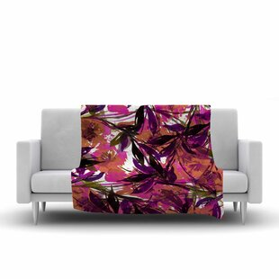 Shop For Ebi Emporium Floral Fiesta Watercolor Pattern Fleece Blanket By East Urban Home