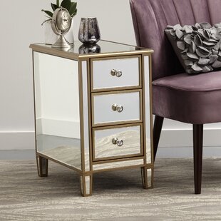 Garnett Mirrored End Table