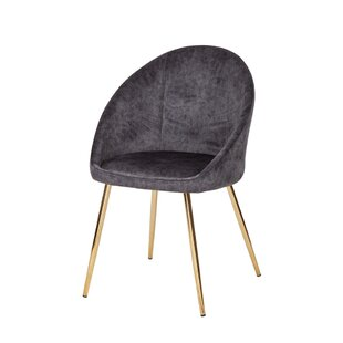 Burlingame Upholstered Solid Back Side Chair By Everly Quinn