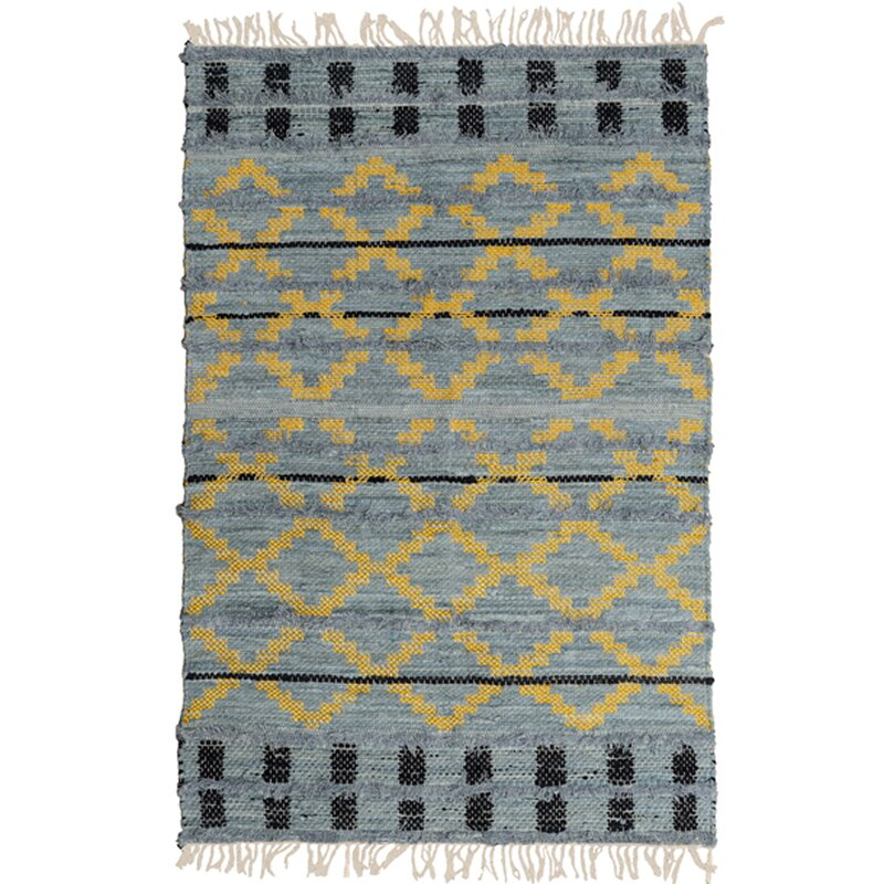 Dakota Fields Brammer Hand Tufted 3 11 X 6 7 Blue Area Rug Wayfair